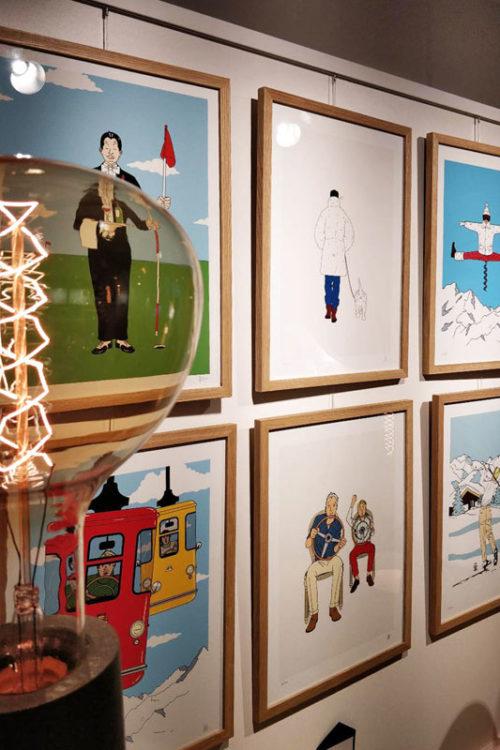 Exposition «Paris-Megève» de Jean-Michel Tixier